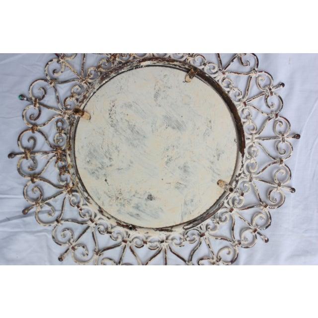 Image of White Iron Mirror