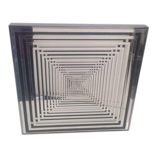Chrome Op Art Geometric Mirror