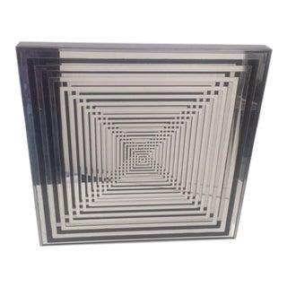 Chrome Op Art Geometric Mirror