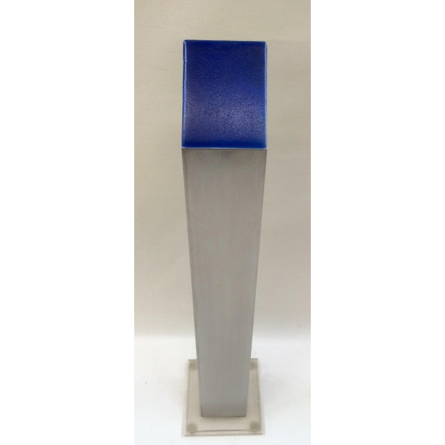 1974 Stainless & Enamel Column Sculpture - Image 4 of 8
