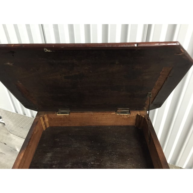 Antique Lift-Top Side Table - Image 5 of 8