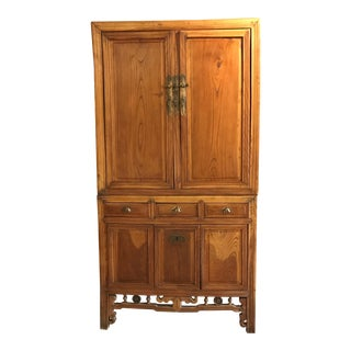 Antique Chinese Two Piece Cabinet