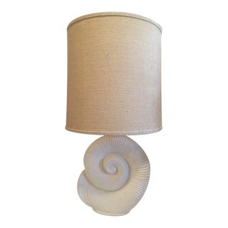 Plaster Nautilus Table Lamp