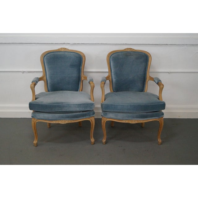 Rowe Louis XV Style Fauteuils Arm Chairs - Pair - Image 2 of 10
