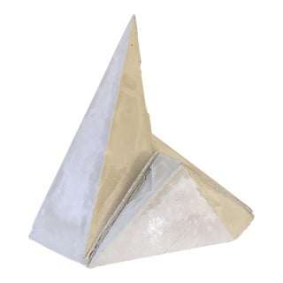 Brutalist Style Faceted Concrete Sculpture