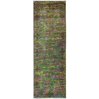 """Vibrance, Hand Knotted Runner - 2'8"""" X 8'3"""""""