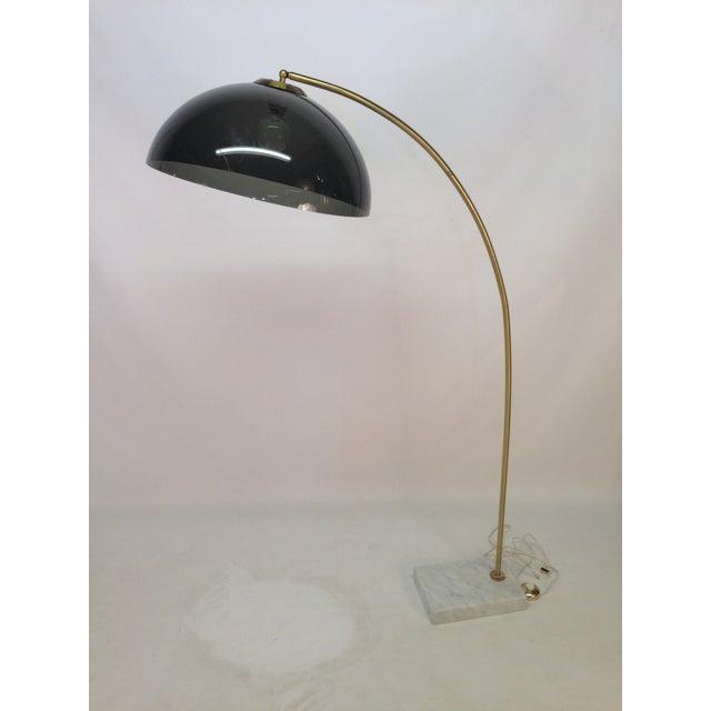 Mid-Century Modern Marble & Brass Arc Lamp - Image 6 of 6