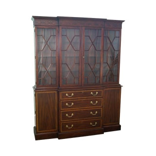 Henkel Harris Chippendale Style Mahogany China Cabinet