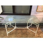 Image of Aluminum Meadowcraft Chair Glass Top Dining Table