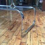 Image of Italian Chromed Steel Etagere by Tricom