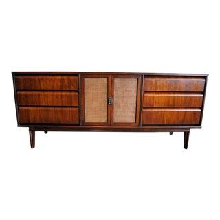 Mid Century Modern Walnut 9 Drawer Dresser