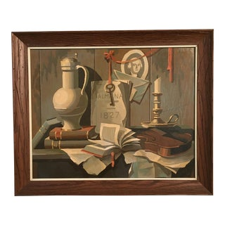 1968 Still Life Paint by Number Framed Painting