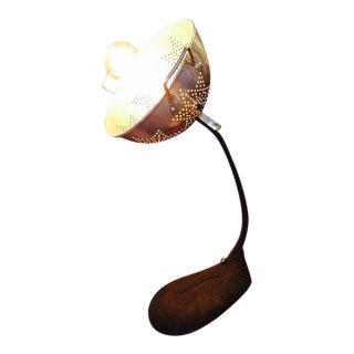 Repurposed Goosneck Heater & Metal Star Strainer Light