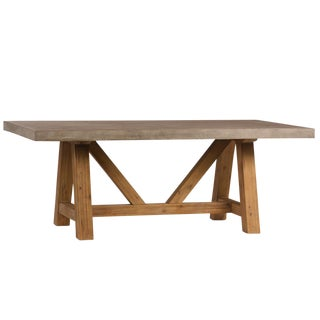 Concrete & Wood Dining Table