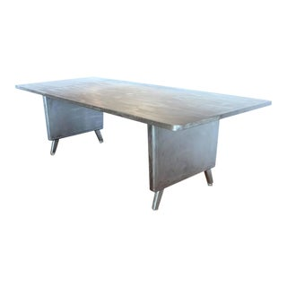 Large Machine Age Metal Desk/Dining Table
