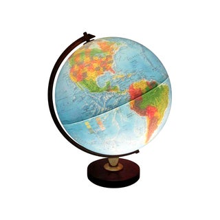 Vintage Light World Globe that Spins