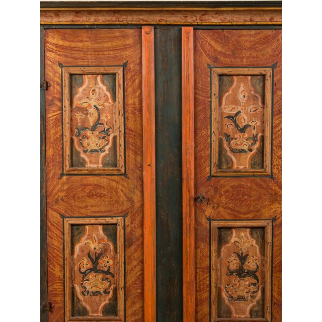 Antique German Hand Painted Dowry Cabinet, Two Doors, circa 1800 - Image 10 of 11