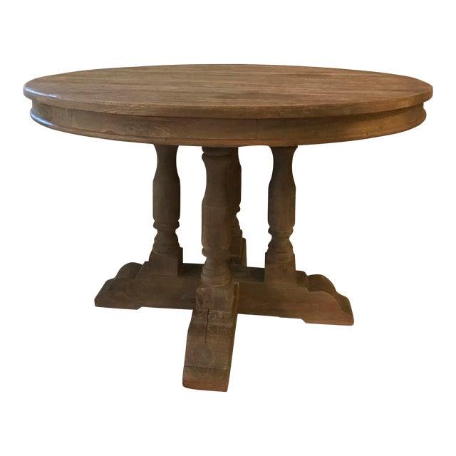 Restoration Hardware Weathered Round Dining Table Chairish