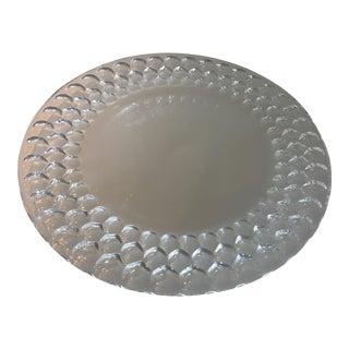 Tiffany Honey Comb Crystal Platter