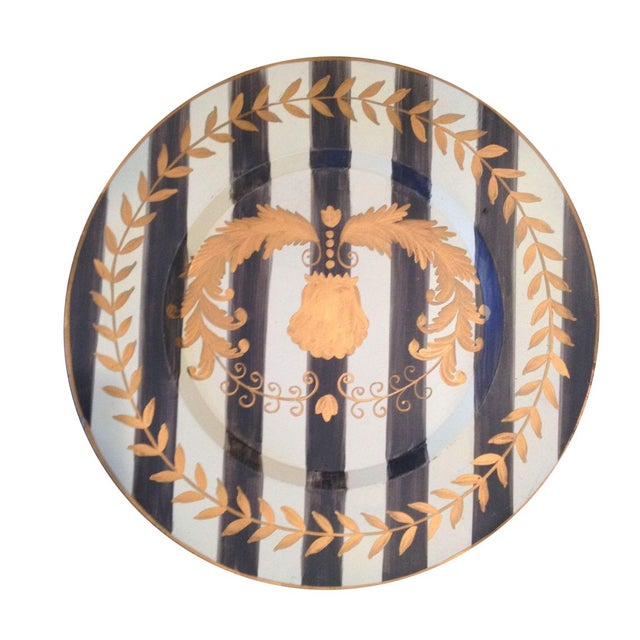 Hand-Painted Tole Plate - Image 1 of 2