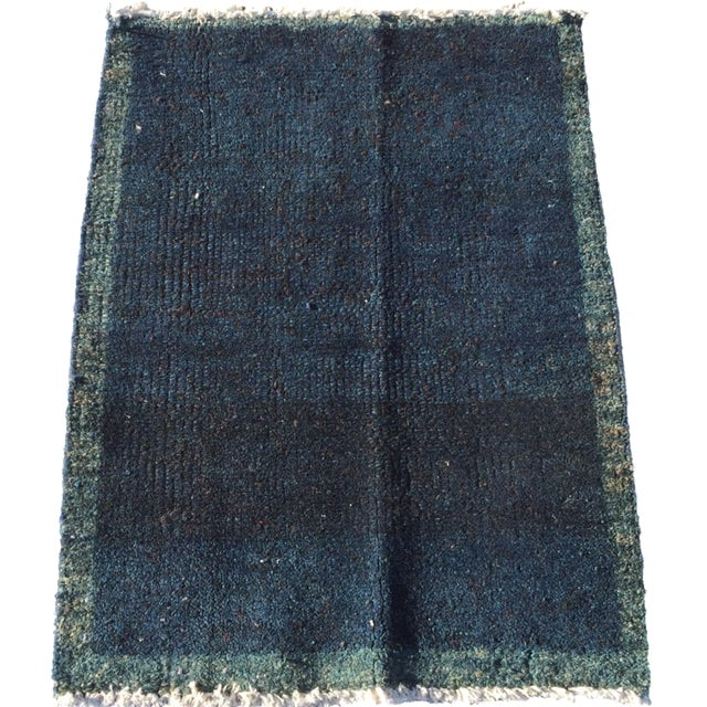 "Navy Vintage Turkish Rug - 1'11"" X 2'6"" - Image 1 of 7"