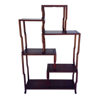 c1910-30s Asian Antique Rosewood Etagere