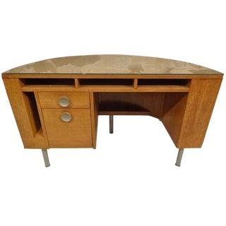 Gilbert Rohde for Herman Miller American Art Deco Demilune Desk