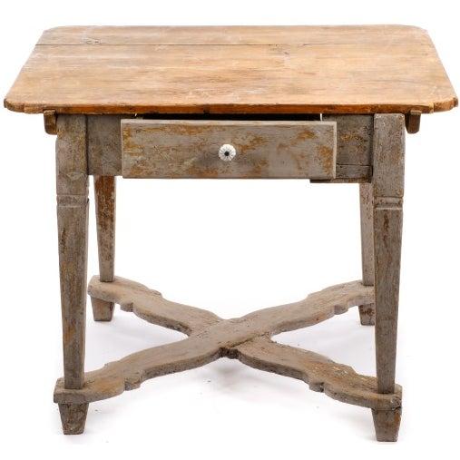 18th Century Gustavian Farm Table - Image 1 of 5