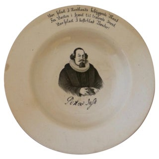 Antique 19th C. Gustavsberg Dish, Petter Dass