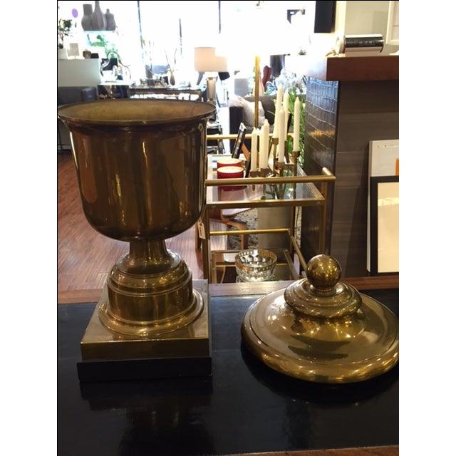 Vintage Monumental Chapman Brass Urn on Base - Image 5 of 7