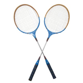 Old School Badminton Racquets, A Pair