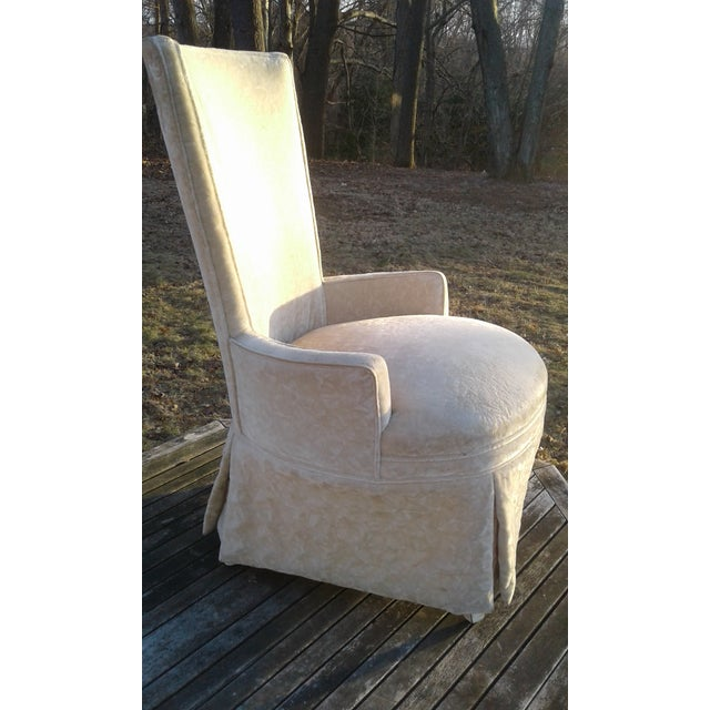 Vintage Highback Mohair Chair - Image 2 of 7