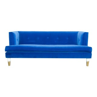 Modern Royal Blue Velvet Sofa