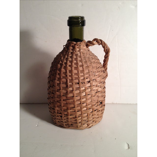French Wicker-Wrapped Wine Bottle - Image 2 of 5
