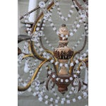 Image of Six-Light White Opaline Chandelier, circa 1900