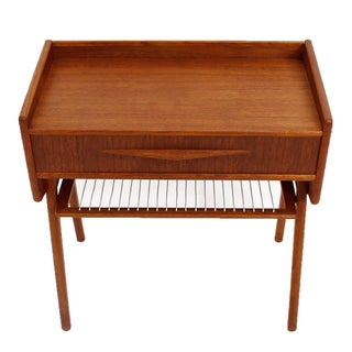 Randers Danish Small Teak Nightstand/Accent Table
