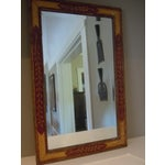 Image of Antique 19th C. Hand Painted Mirror Folk Art Style