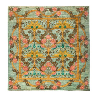 "Arts & Crafts, Hand Knotted Area Rug - 9' 10"" X 10' 1"""