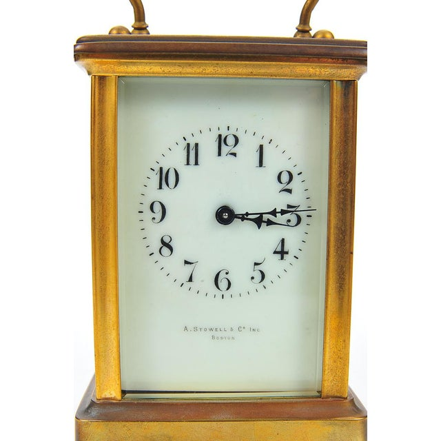 Stowell & Co. Antique Brass Carriage Clock - Image 8 of 9