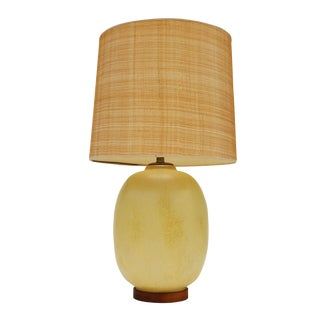 Light Ochre Glaze Ceramic Table Lamp