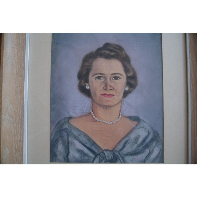 Vintage Framed Pastel Lady Portraits - Pair of 2 - Image 7 of 8