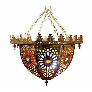 Handmade Moroccan Brass Ceiling Pendant