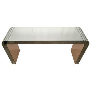Mirrored Waterfall Style Console