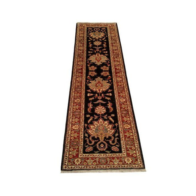 Traditional 10 Ft. Handmade Knotted Runner Rug - 2′11″ × 10 - Image 2 of 3