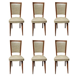 French Art Deco Dining Chairs - Set of 6