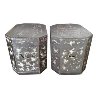 Large Pair of Chinoiserie Lacquer Boxes