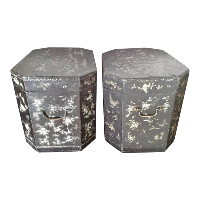 Large Pair of Chinoiserie Lacquer Boxes - Image 1 of 8