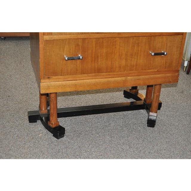 1930's Art Deco Drop Front Desk - Image 6 of 9
