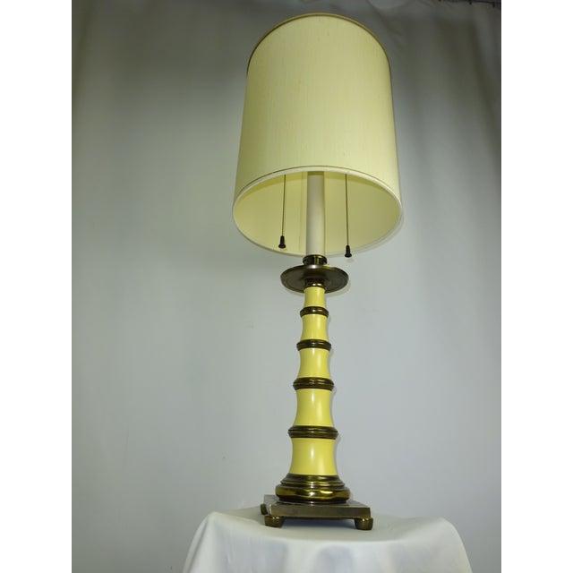 Circa 1960 Faux Bamboo Enamel Table Lamp - Image 4 of 9