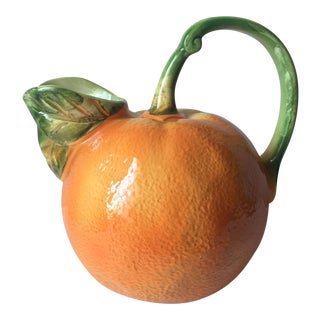 Italian Faience Orange Shaped Pitcher
